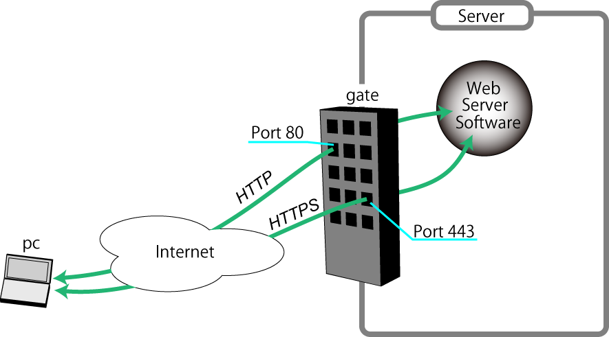 Web サーバへの接続の様子